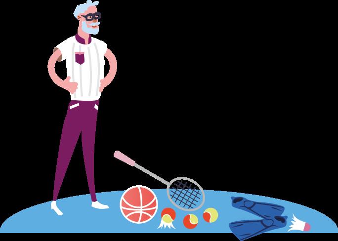 Illustration accessoires de sport