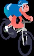 Illustration homme sur vélo